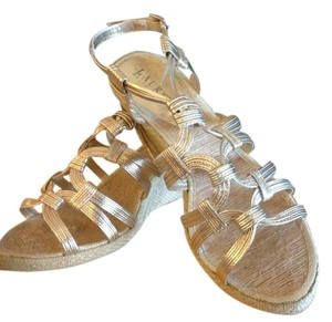 Ralph Lauren Pale Metallic Gold Sandals