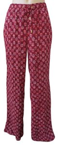Michael Kors Size 12 Relaxed Pants Red