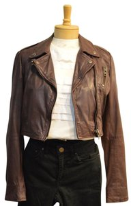 Muubaa Muuba Leather Brown Jacket