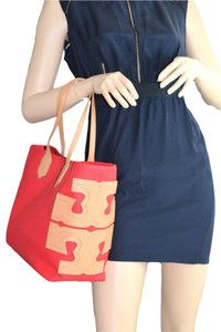Tory Burch Stacked Tote in Red / Lobster