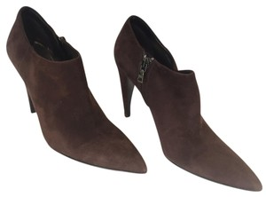 Prada Suede Pointed Toe Bootie Brown Boots