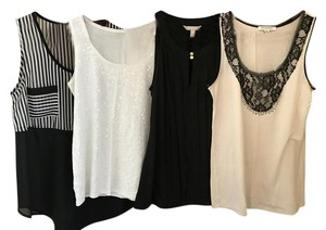 Banana Republic Silk Ann Taylor Top Assorted - Black & White