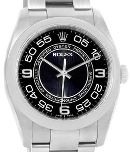 Rolex Rolex No Date Black Concentric Dial Stainless Steel Mens Watch 116000