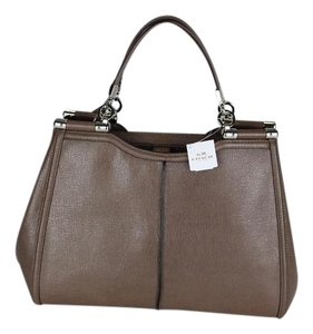 Coach Leather Satchel in Ash (Grey/Beige)