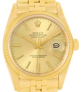 Rolex Rolex Datejust 18k Yellow Gold Vintage Mens Watch 16018