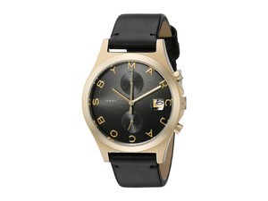 Marc Jacobs Marc Jacobs The Slim Black Leather Gold Tone Steel Watch MBM1398
