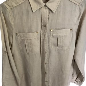 MICHAEL Michael Kors Button Down Shirt Beige