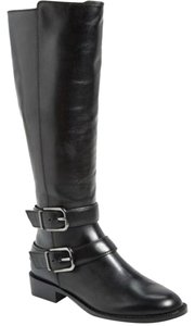 Via Spiga Leather Equestrian Knee High Tall Black Boots