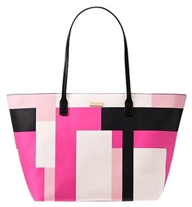 Kate Spade Leather Stripe Cute Shoulder Bag