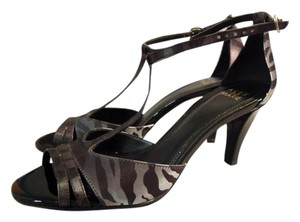 Alex Marie Open Toe animal print black & silver Formal