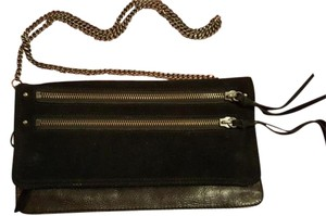 AllSaints Leather Chain Suede Cross Body Bag
