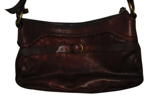 Cole Haan Leather Brass Shoulder Bag