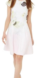 Ted Baker short dress pink with flower on Tradesy