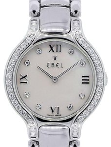 Ebel Ebel Beluga Mother of Pearl Roman Diamond Bezel and Dial Steel Watch