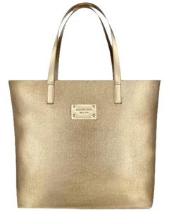 Michael Kors Canvas Tote in Gold