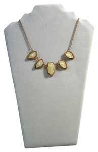 My Style ACN6788DG ivory 5 stone scalloped necklace