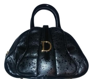 Dior Christian Christian Leather Handbag Satchel in Black