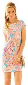 Lilly Pulitzer short dress Blue, pink, yellow on Tradesy