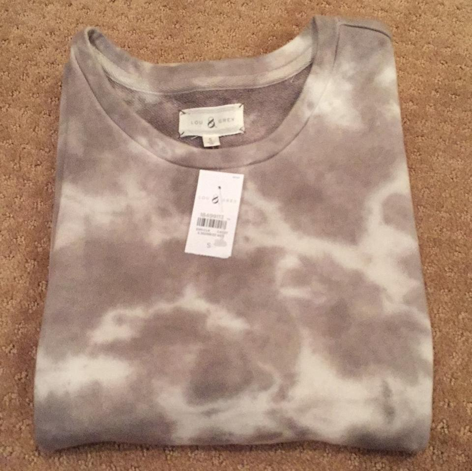 3533d6414b904 Lou   Grey and White Tie-dye Sweatshirt Short Casual Dress Size 4 (S ...