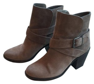BCBGeneration Suede Nubuck Buckle Chunky Taupe Boots
