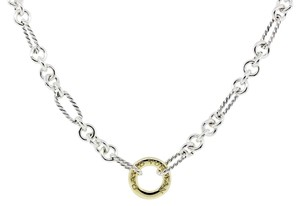 David Yurman David Yurman Figaro Two Tone Link Chain Necklace