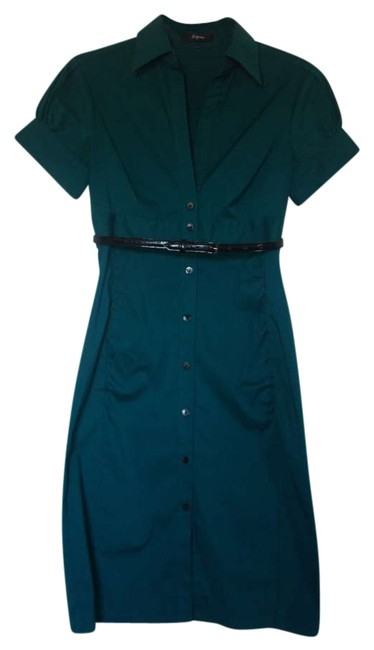Preload https://img-static.tradesy.com/item/199090/express-green-belted-shirtdress-above-knee-workoffice-dress-size-2-xs-0-0-650-650.jpg