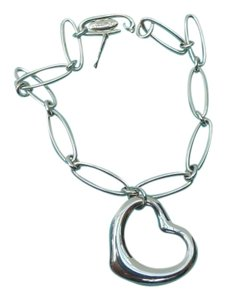Tiffany & Co. Elsa Peretti Large Open Heart Oval Link Bracelet 7 3/8