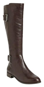 Via Spiga Leather Knee High Equestrian Brown Boots