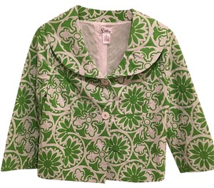 Lilly Pulitzer Lime and White Jacket