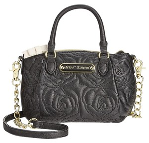 Betsey Johnson Quilted Rose Cross Body Bag