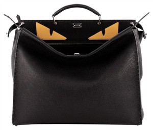 Fendi Leather Tote in Black