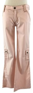 Frankie B Flare Leg Cargo Stretchy Cargo Pants Pink