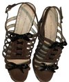 Marc by Marc Jacobs Brown/black/white Wedges