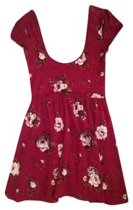 Urban Outfitters short dress maroon on Tradesy