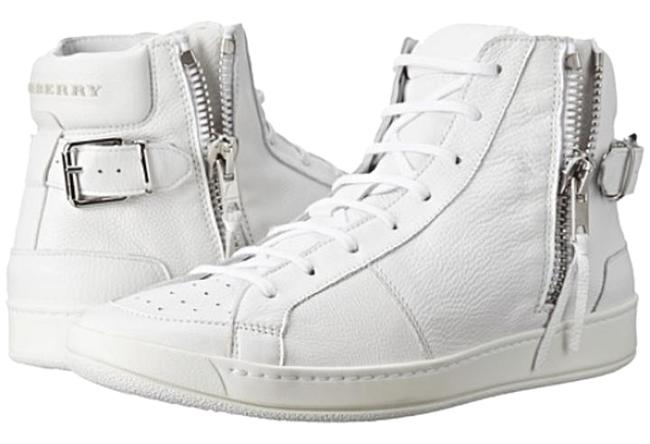 Item - White Goxhill Zip Leather High Top Sneakers Size US 8.5 Regular (M, B)