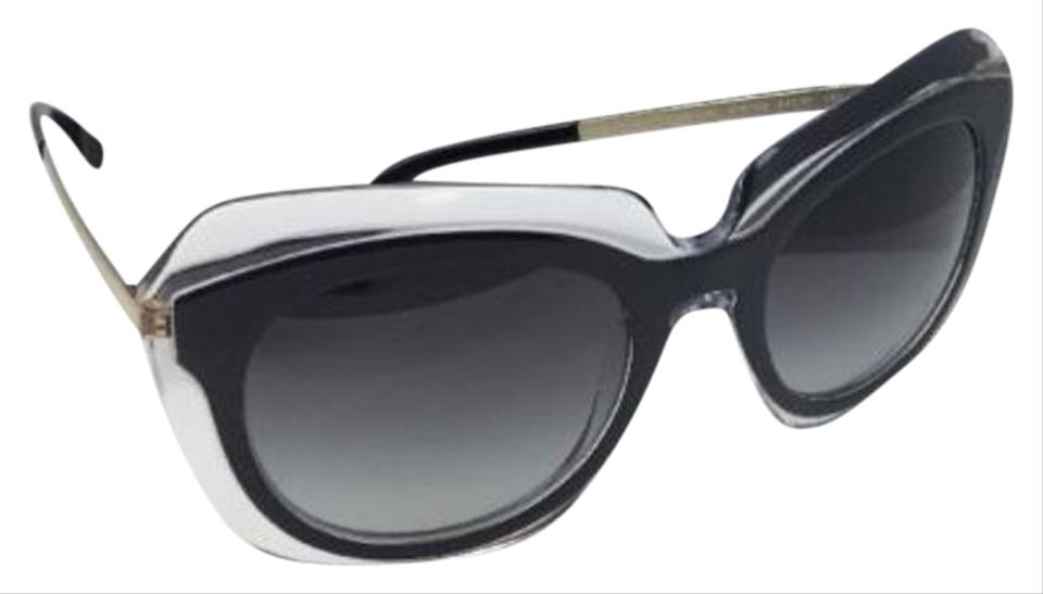 75695ae3e2 Dolce&Gabbana New DOLCE & GABBANA Sunglasses DG 4282 675/8G Black on Clear  w/ ...