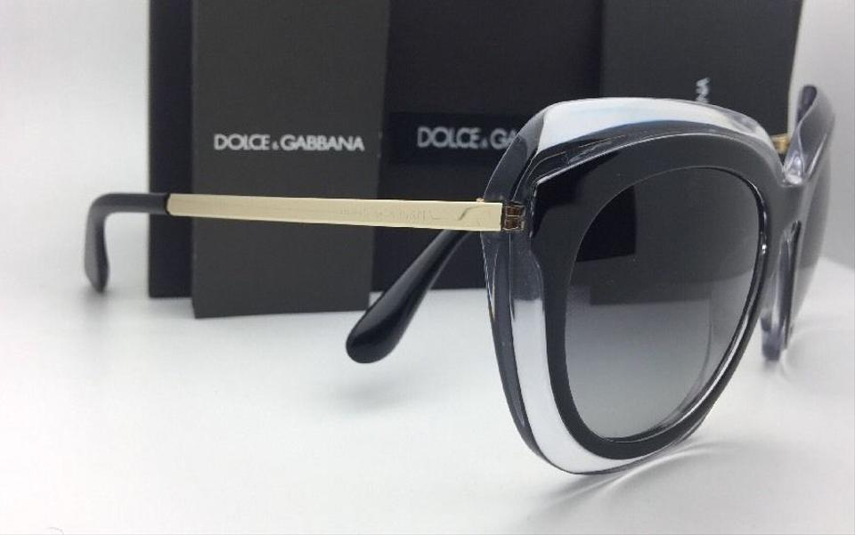 2d7de5bf2c Dolce&Gabbana New DOLCE & GABBANA Sunglasses DG 4282 675/8G Black on Clear  w/. 1234567