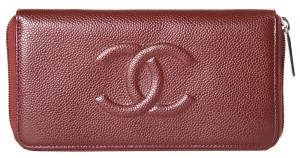 Chanel Chanel Bordeaux Leather Timeless Wallet