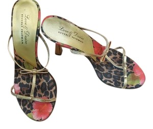 Beverly Feldman Gold and rim is multi color Sandals