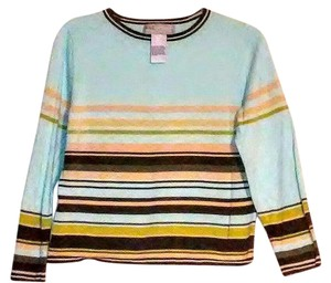 Sag Harbor Sporty Striped Cotton Sweater