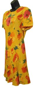 Liz Claiborne California Poppy Sheath Lined Rayon Dress