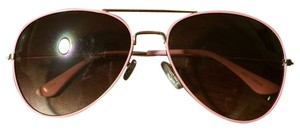 Black & pink aviator sunglasses