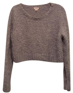 Mossimo Supply Co. Crop Metallic Fuzzy 90's Sweater
