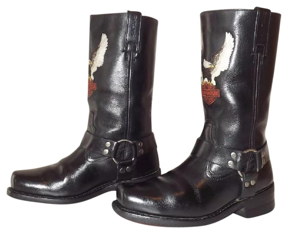 8c9f4a3e3df Harley Davidson Black Darren Leather Harness Square Men s Boots Booties