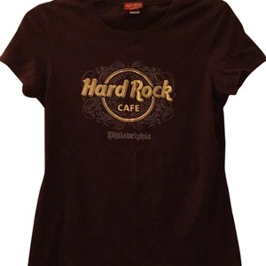 Hard Rock T Shirt Brown