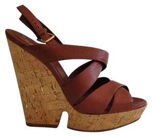 Saint Laurent Brown Wedges