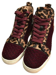 Christian Louboutin Sneaker Leopard Red, Leopard Athletic