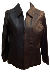 signiture studio black Leather Jacket