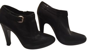 Anne Klein Leather Leather Black Boots