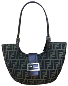Fendi Black Fabric Shoulder Bag